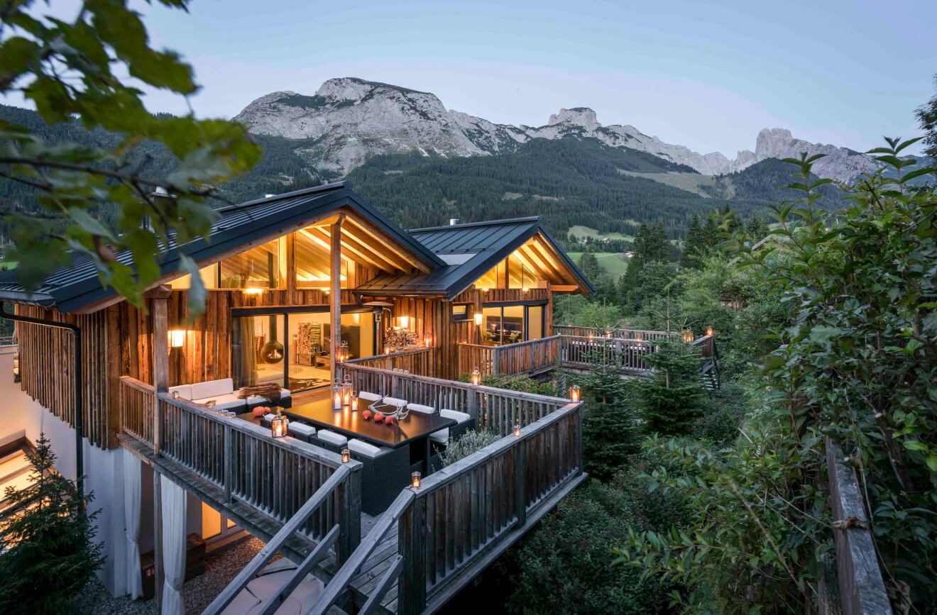 Luxus chalets oase mitten im salzburger land alpenmag for Design hotel salzburger land