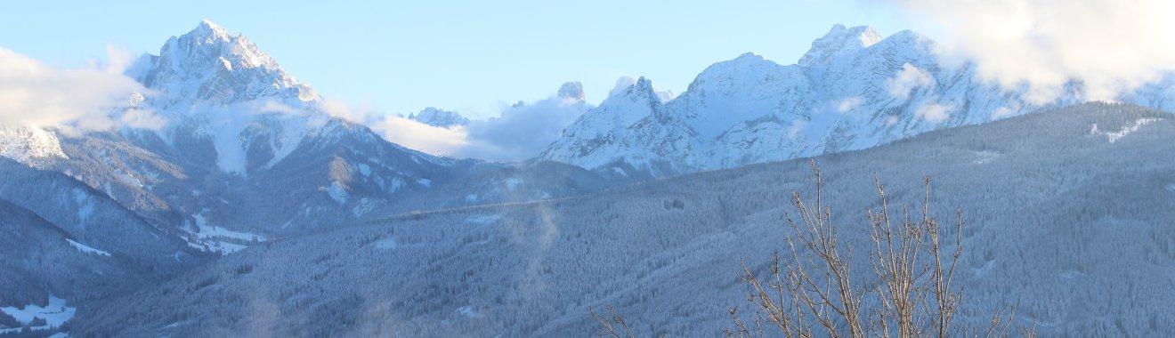Winterliche Bergwelt am Kronplatz